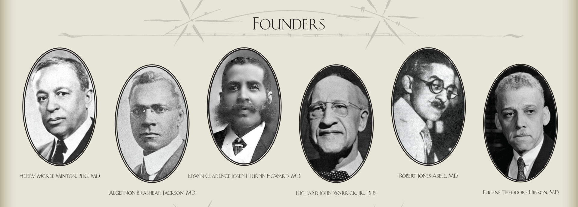 Montage of Sigma Pi Phi Fraternity Founders