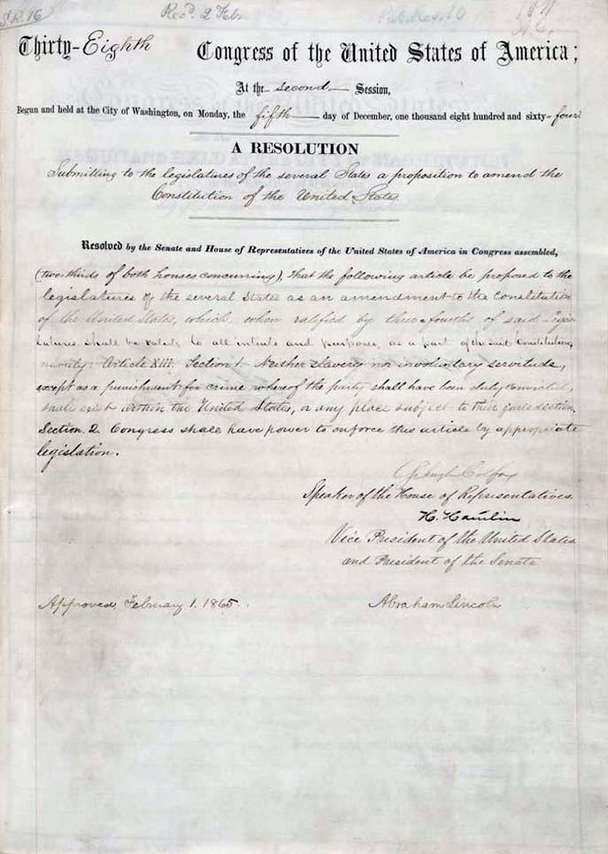 1865 Reconstruction Amendments 1865 1870 Blackpast