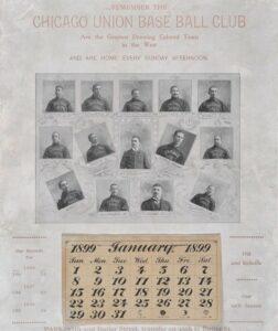 1899 Chicago Unions Calendar