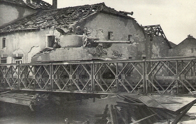 Able Company, 761st Tank Batallion Crossing the Seille River in France, Nov. 9, 1944