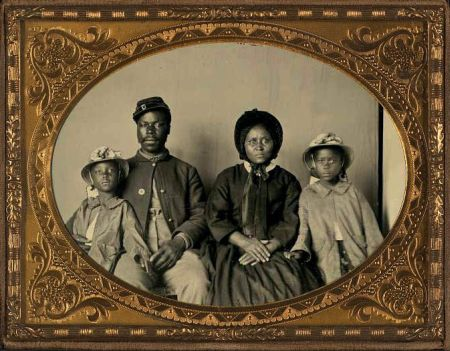 Unidentified Black Civil War Soldier & Family