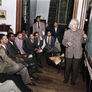 Albert Einstein at Lincoln University in Pennsylvania