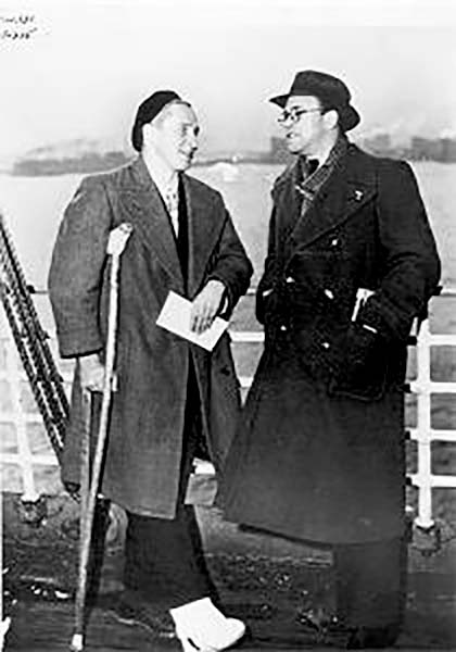 Arnold Bennett Donowa (Right) Returning from Spain, 1938