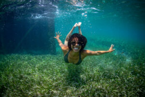 Ayana Elizabeth Johnson Swimming in Jamaica's Seagrass