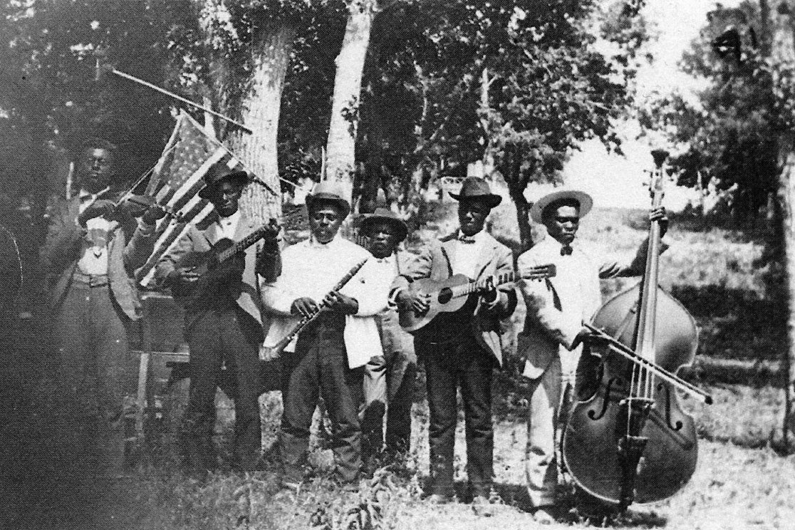 Band Celebrating Juneteenth in Texas, 1900