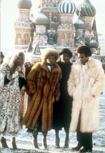 Boney M in Front of St. Basil Cathederal Red Square, Moscow, 1978