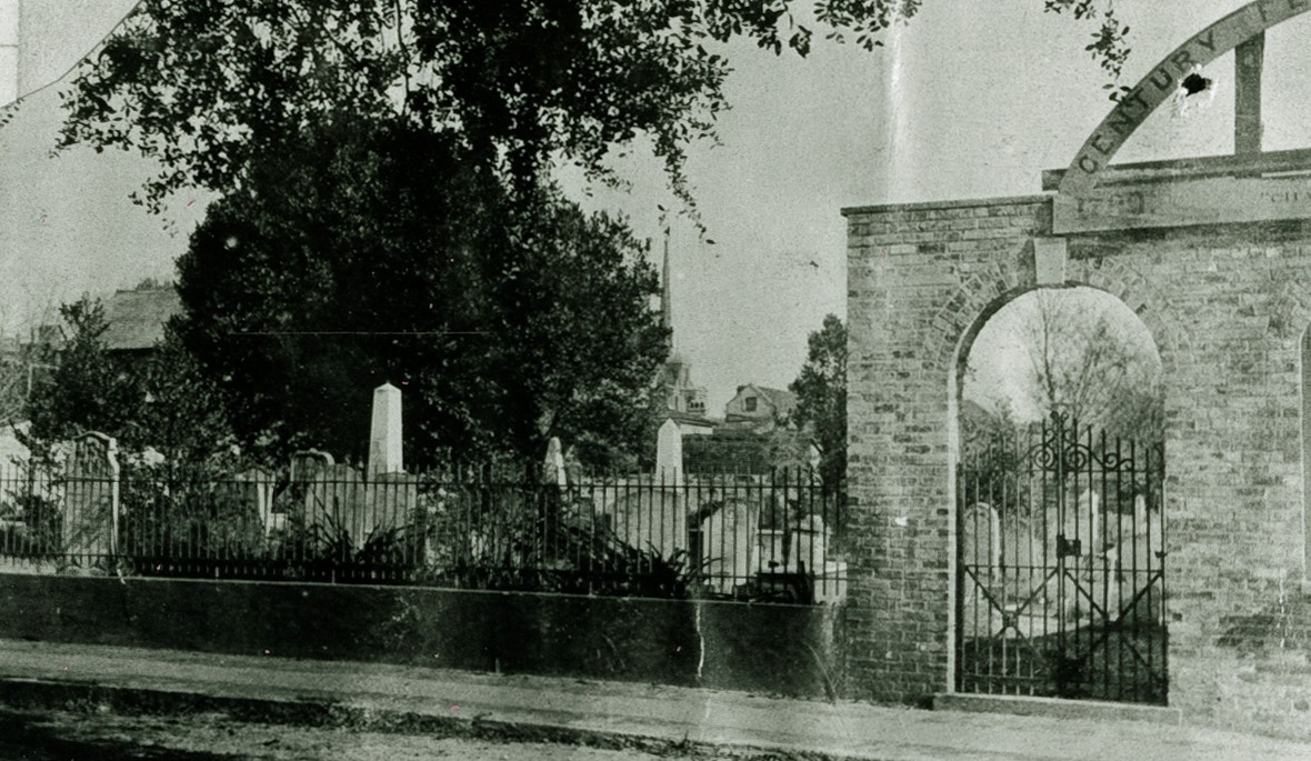 Brown Fellowship Society Cemetery Founded in 1790 (Avery Photograph Collection, Avery Research Center, College of Charleston)
