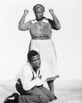 Claudia McNeil and Sidney Poitier in A Raisin in the Sun, 1961