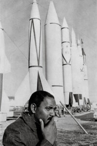 Clyde Foster with NASA Rockets