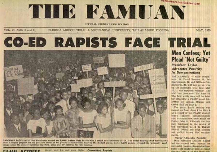 FAMU Front Page Article on Betty Jean Owens Case
