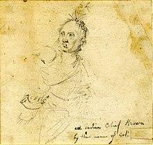 Colonel Louis Cook (John Trumbull 1785 sketch)