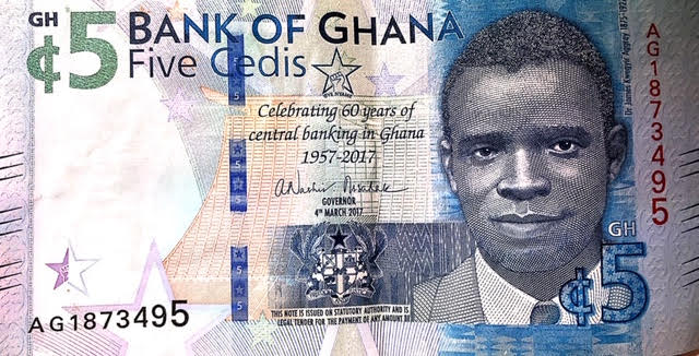 Dr. James Aggrey on Cedi Note