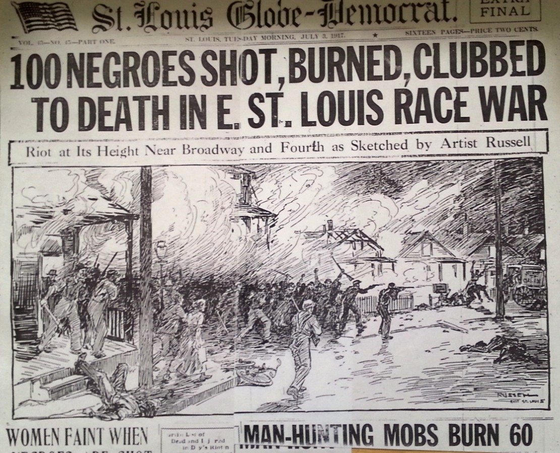 East St. Louis Race Riot Headline, 1917