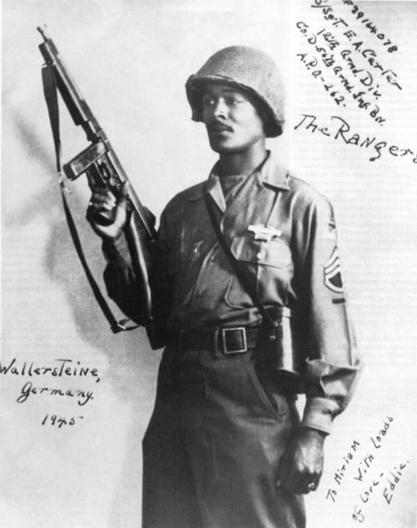 Edward A. Carter Jr. in Gun Pose