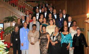 "Epsilon Mu (Hilton Head, South Carolina) members honor their Archousai at their ""Christmas for the Archousai"" affair, December 14, 2013"