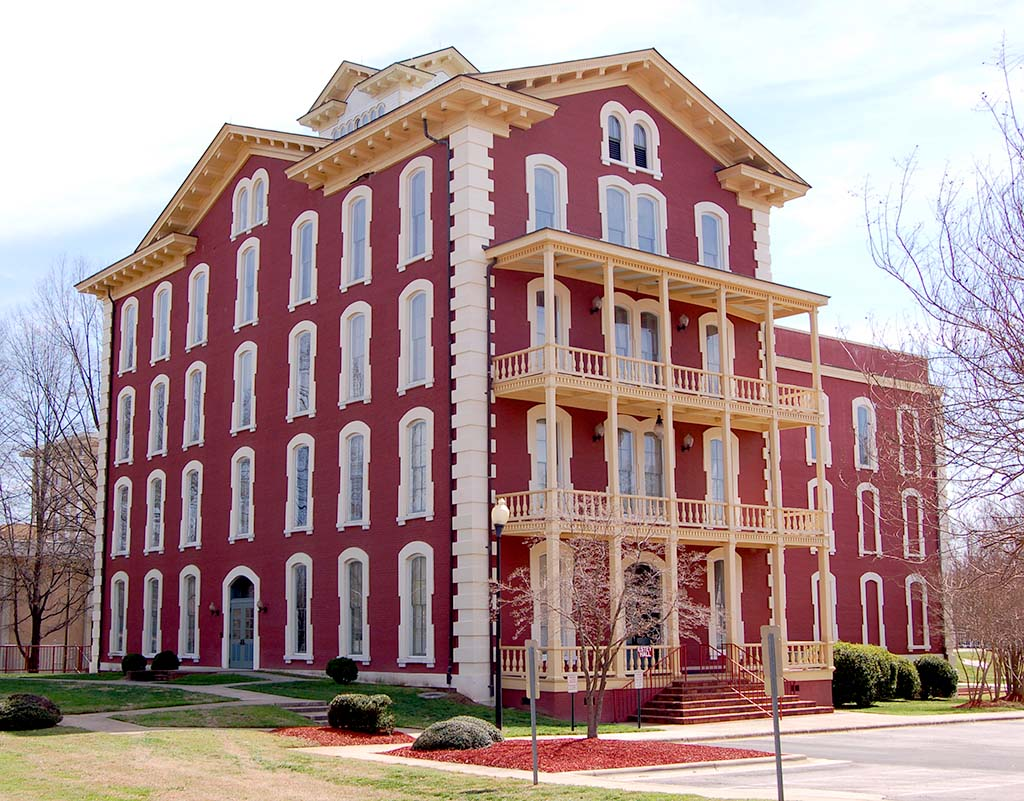 Estey Hall, Built in 1873 as the First Female Dormitory at a Co-ed College in the US