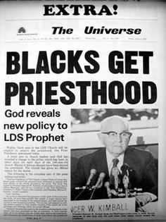 Extra BYU Daily Universe Announces the End of the Priesthood Ban, June 9, 1978