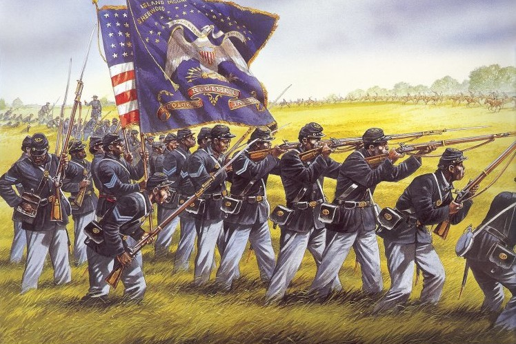First Kansas Colored at the Battle of Honey Springs, Indian Territory, 1863