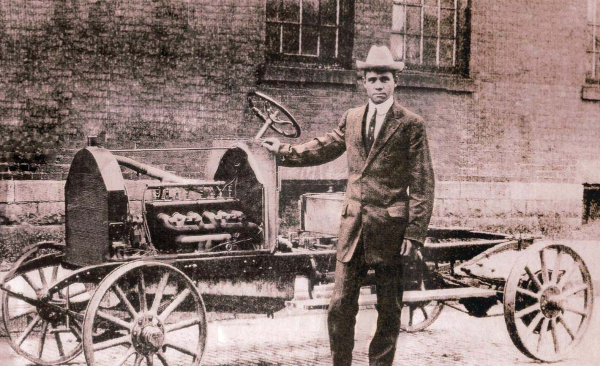 Frederick Patterson with Patterson-Greenfield Automobile