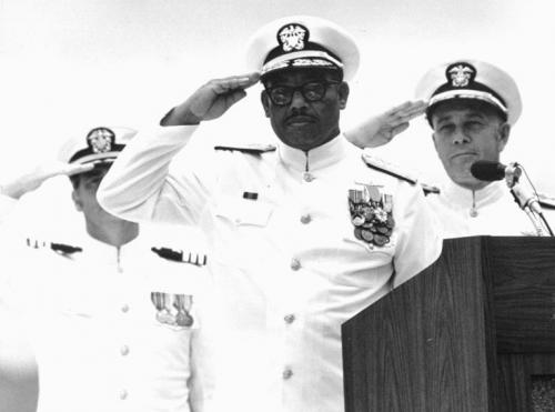 Vice Admiral Samuel L. Gravely, Jr. Takes Command of 3rd Fleet, Honolulu, Hawaii, 1976