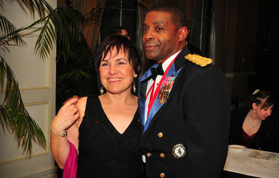 General Rufus Smith and wife, Phillipa, at his retirement celebration, February 2, 2013