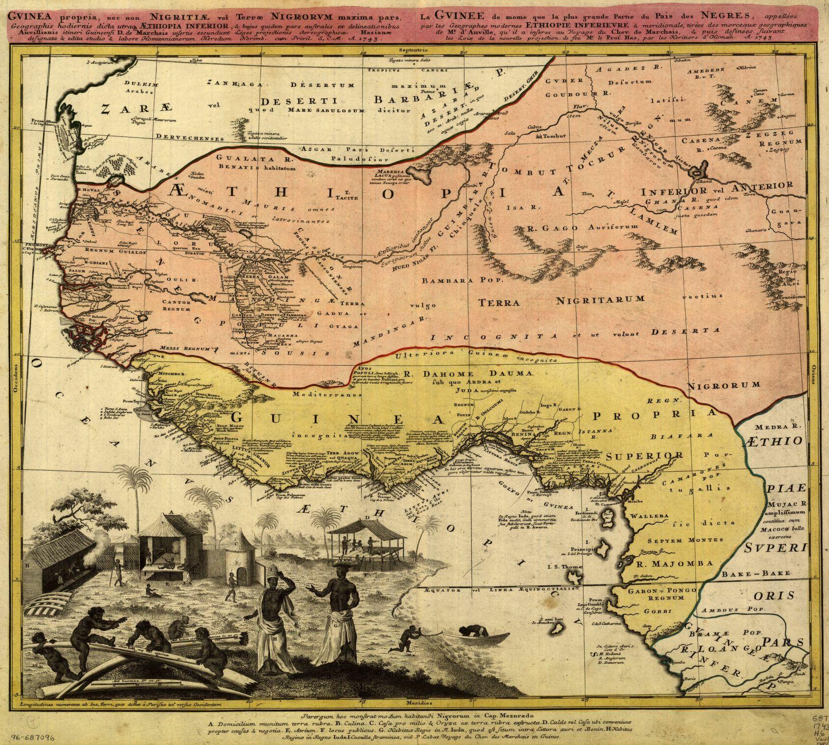 Guinea and Ethiopia regions, 1743