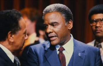 Harold Washington Campaigning in Chicago, 1983