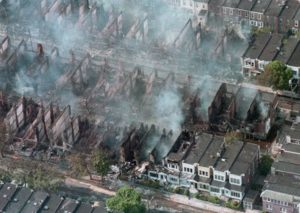 Houses Destroyed in MOVE Bombing (The Morning Call)