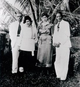 Howard and Sue Bailey Thurman with Phenola & Edward Carroll on Pilgrimage to South Asia, 1935-36