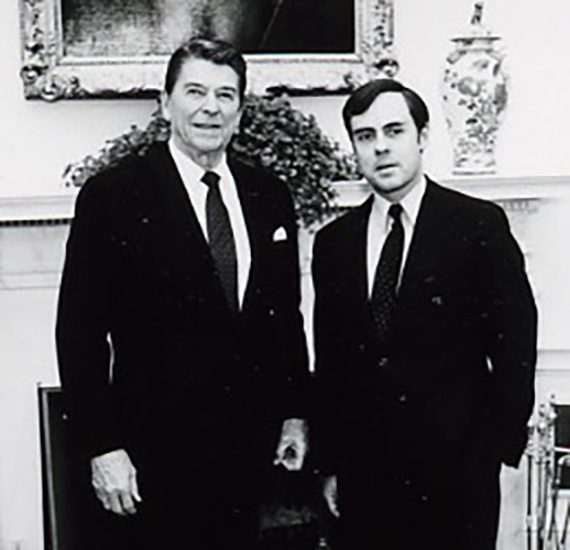 Howard Kent Walker (right) and Ronald Reagan, Oval Office, March 11, 1982