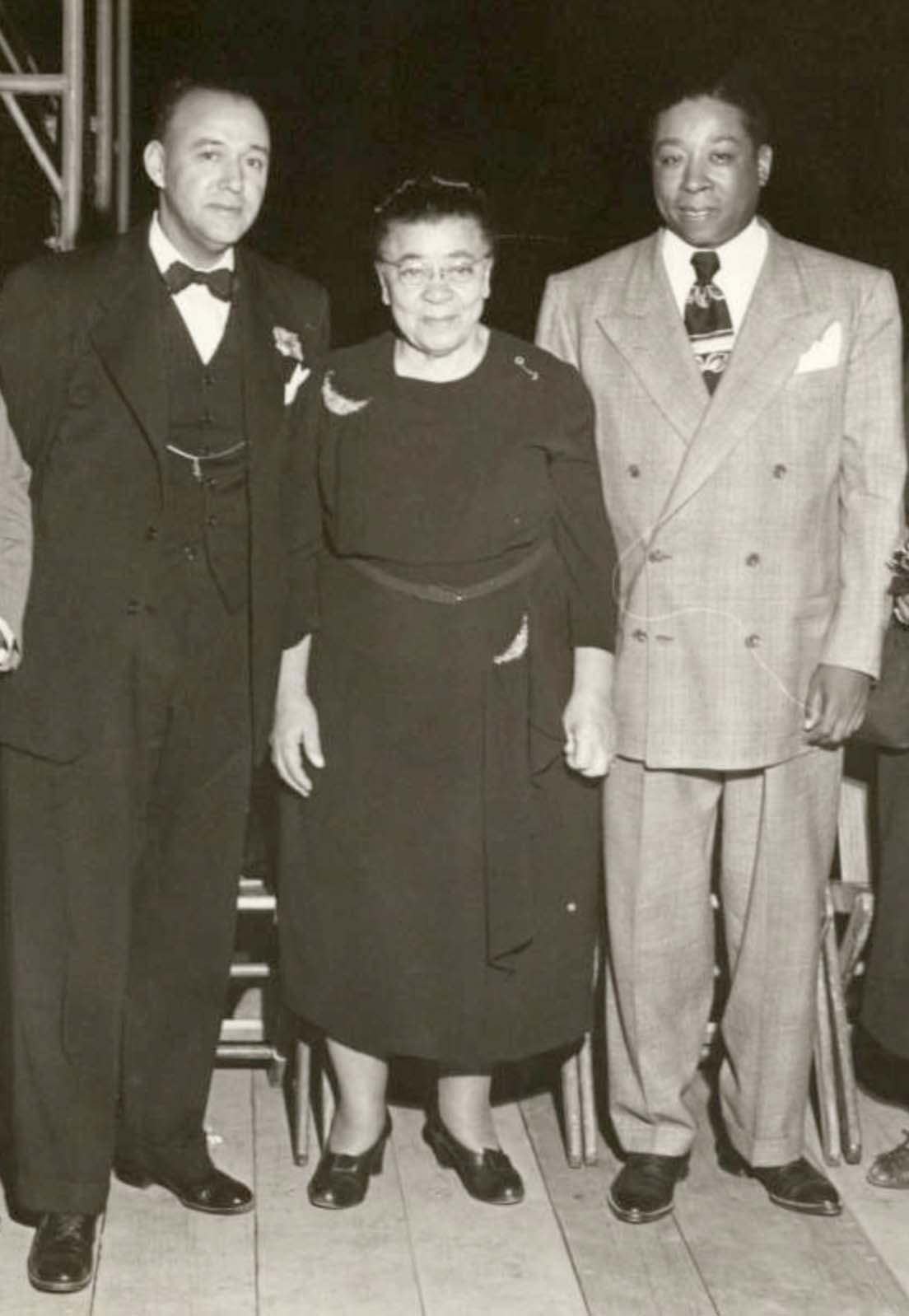 J. Raymond Henderson, Charlotta Bass, and Rev. Clayton D. Russell
