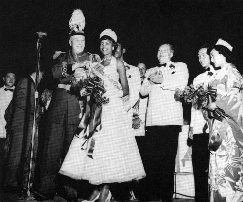 Crowning Miss International Center, 1952, Jackson Street Community Council