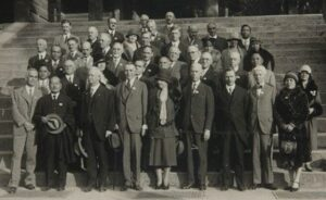 James Weldon Johnson, third row left, at the IPR Conference, Kyoto, Japan, 1929 (Yale Unviersity Library, catalog no 2110148)