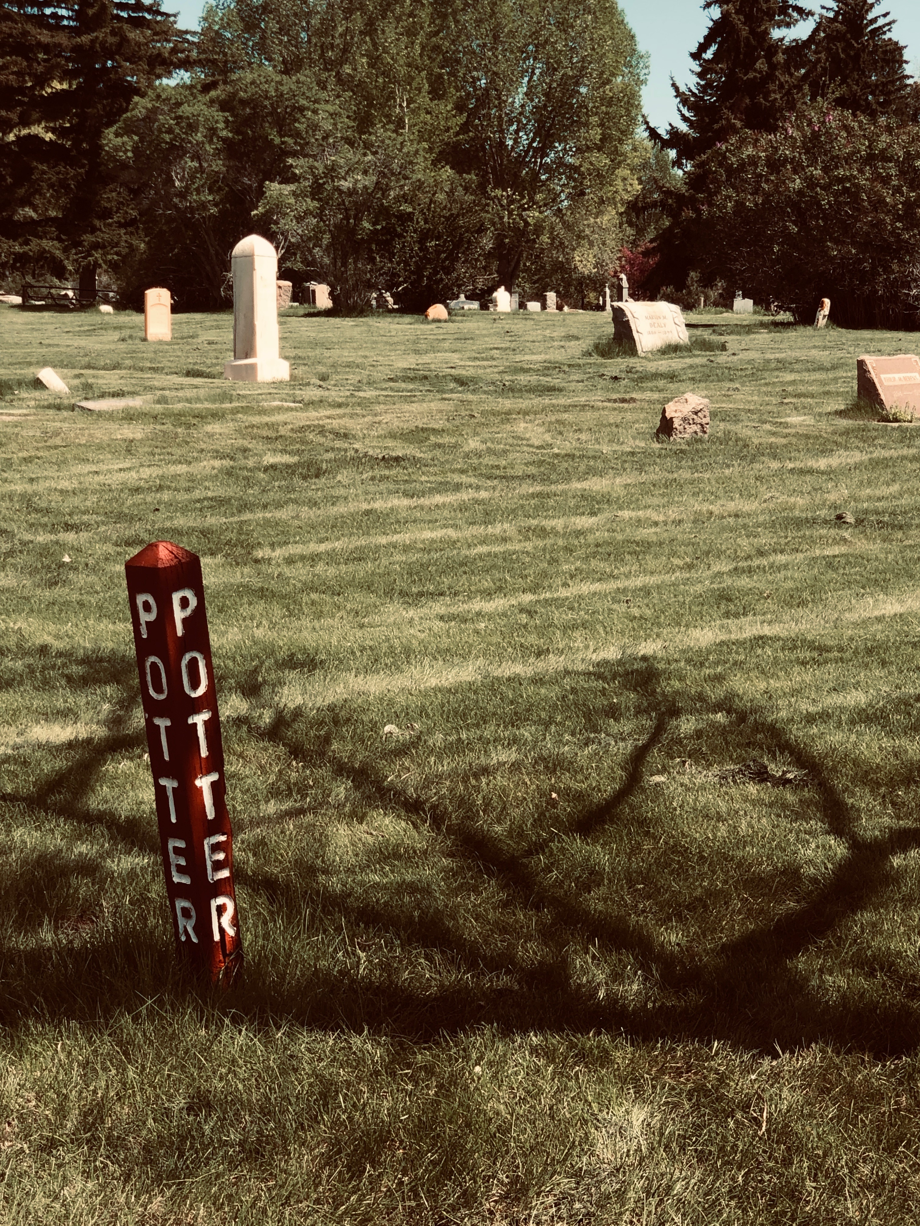 Joe Martin Gravesite in Potter's Field, Greenhill Cemetery, Laramie, Wyoming
