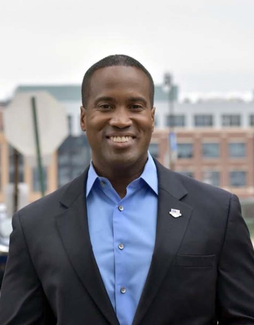 John James campaign photo, 2018