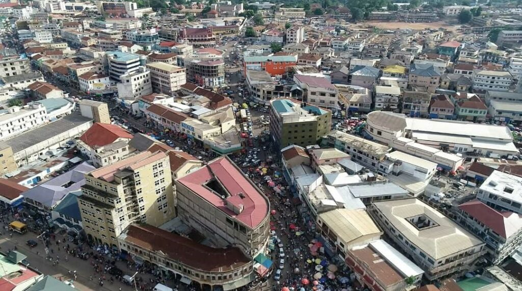 Kumasi Central Business District (The Post)
