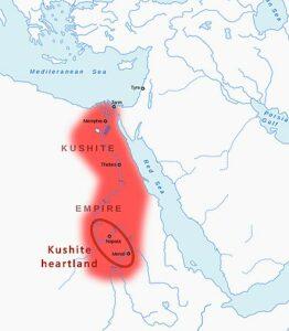 Kushite Heartland and Kushite Empire of the25th Dynasty, circa 700 BCE