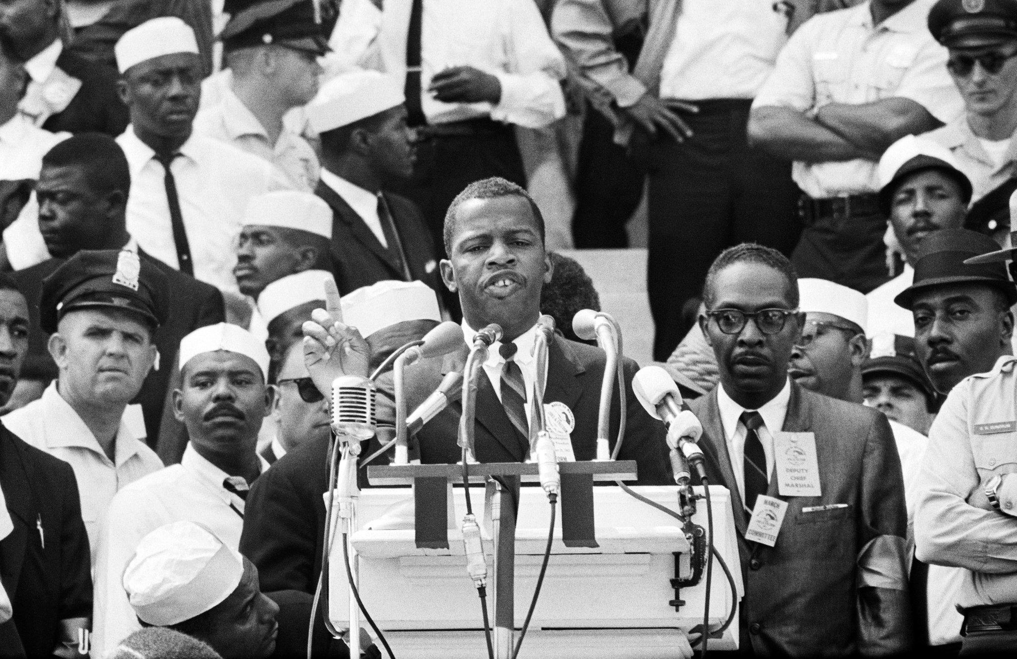 John Lewis speaking, March on Washington, 1963
