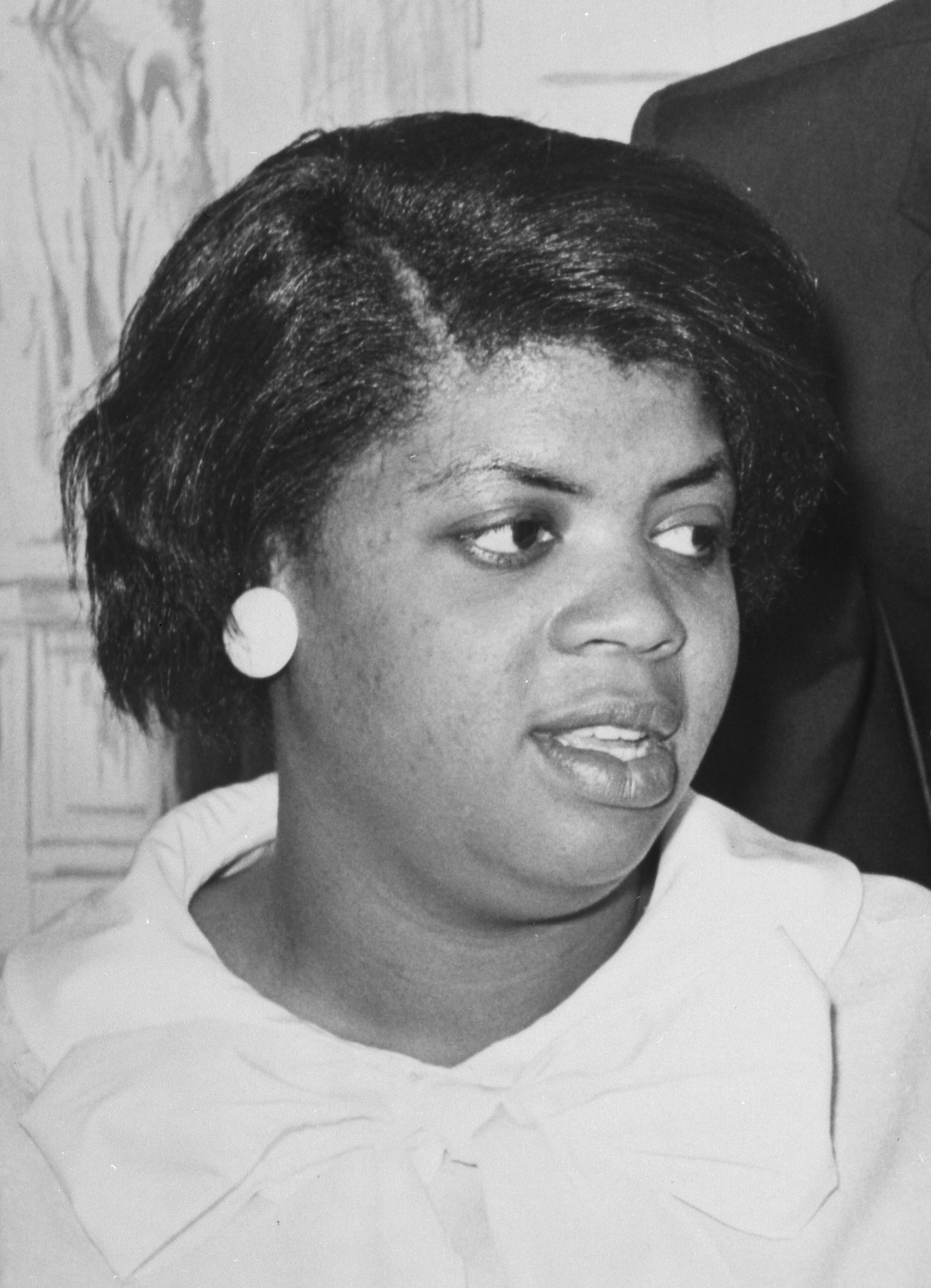 Linda Brown Smith at press conference, Americana Hotel, Arlington, Virginia, June 9, 1964