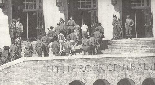 "an analysis of the littel rock integration crisis The mothers' league of central high school and the little rock desegregation crisis of 1957"" arkansas historical quarterly 57 (summer 1998): 160–190."