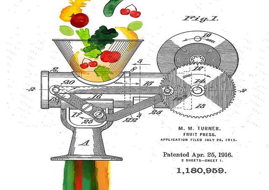 Madeline M. Turner Fruit Press Patent, April 25, 1916