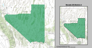 Map of Nevada's 4th Congressional District
