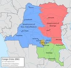 Map of the Congo, 1961