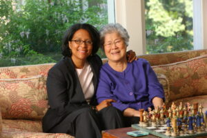 Marilyn Strickland Poses With Her Mother, Inmin Kim Strickland