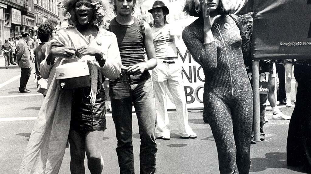 Marsha P. Johnson (Left) and Sylvia Rivera (Right) in 1973 Gay Pride Parade, NYC