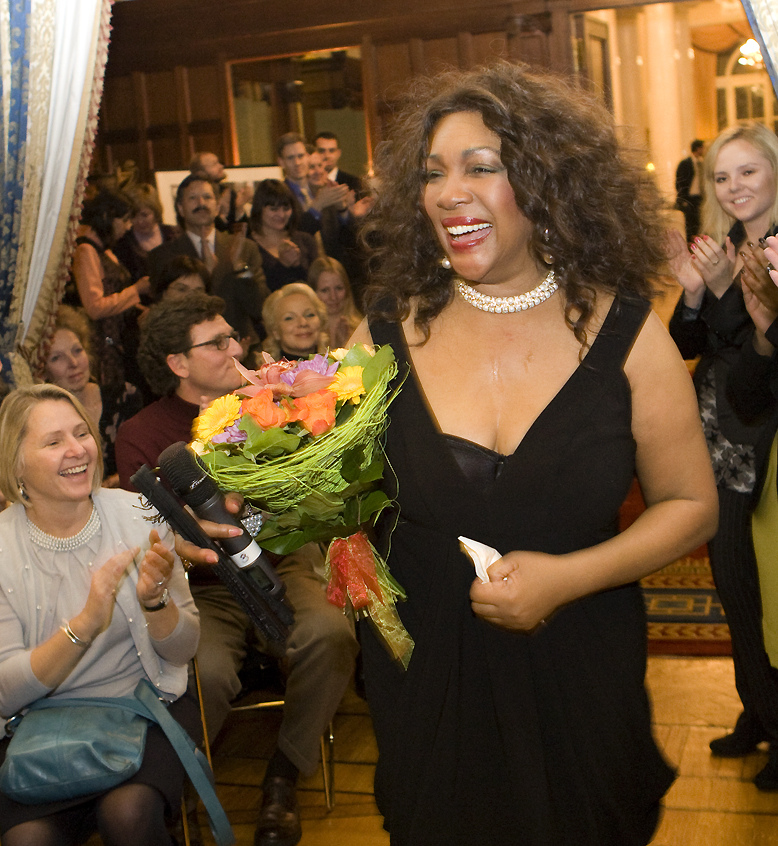 Mary Wilson at Spaso House, Moscow, Russia, Feb. 2011