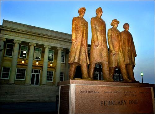 Four Students Who Initiated the Sit-Ins On February 1, 1960
