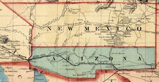 New Mexico Territory in 1859, Showing the Proposed Division of the Territory