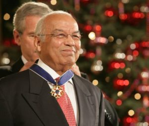 Norman Francis Awarded 2006 Presidential Medal of Freedom by President George Bush (Public Domain)