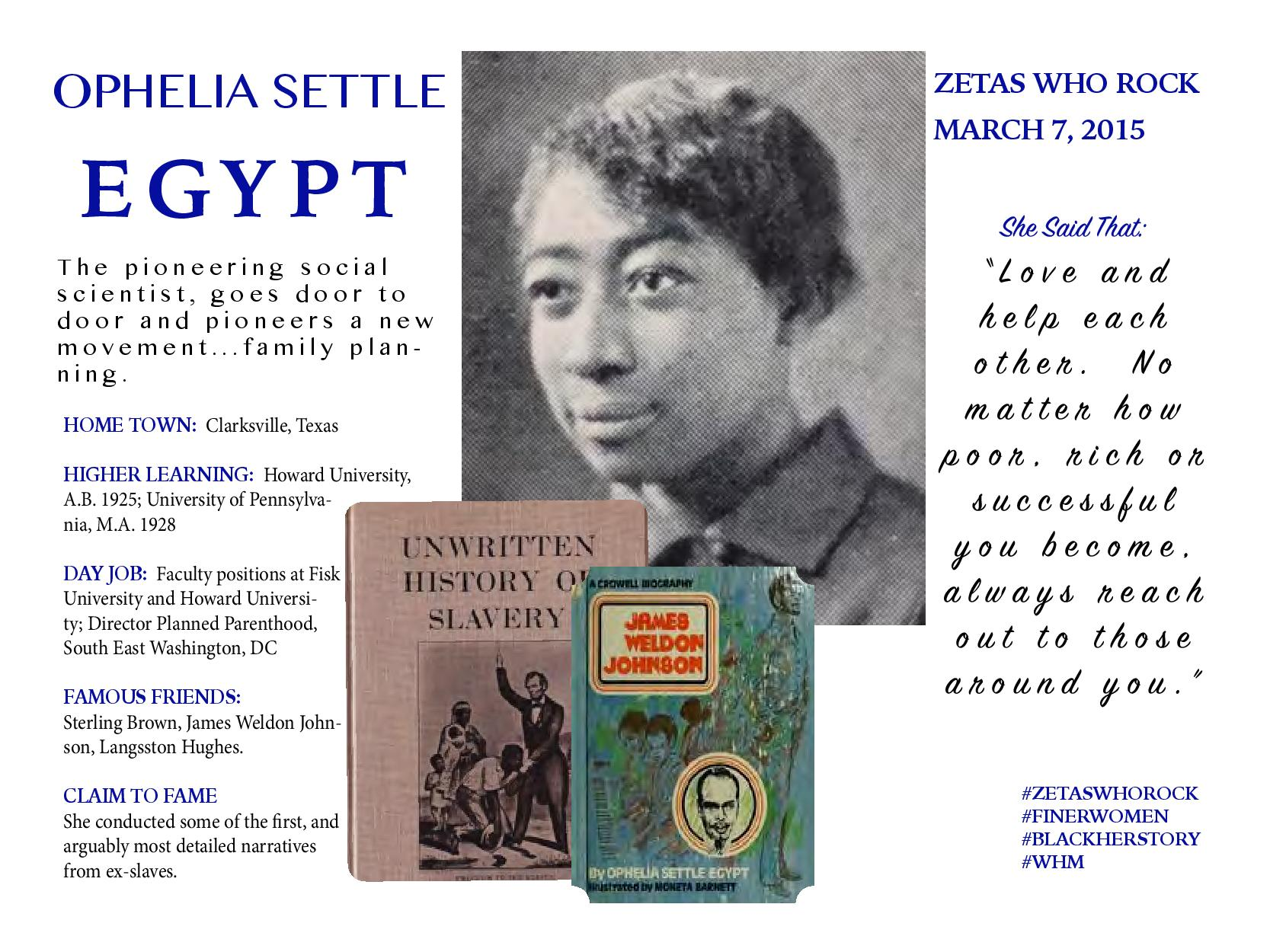 Ophelia Settle Egypt